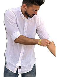 TIPO S Camicia Uomo Puro Lino Made in Italy Art. 200 Manica Lunga Tg. M 4c97662f716
