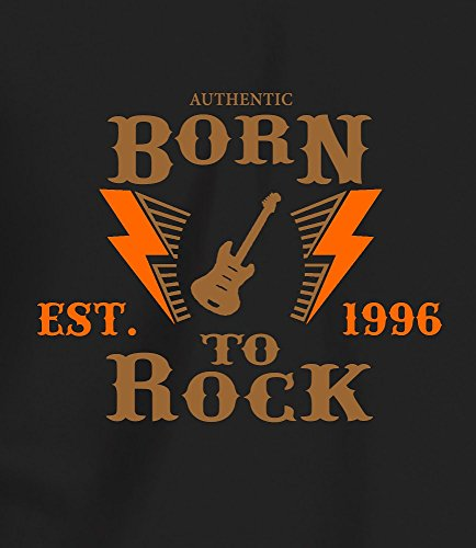"""""""Born to Rock, Est. 1996"""" - Geschenk T Shirt zum 21. Geburtstag, Damen Braun/Orange Druck"""