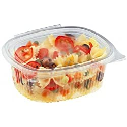 50 plateaux ovales de salade 750ml de couvercle plat de récipient de boîte claire en plastique de récipient clair