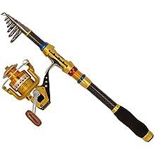 Supertrip TM Angelrute Angelrollen Combo Angelrute mit rolle Salzwasser Spinnrute und Spinnrolle angelset komplett Teleskoprute mit rolle Kit
