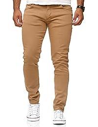 abb38260a2 Redbridge Hombres Jeans Slim-Fit Básico Chino Denim Elásticos Moda Vaquero