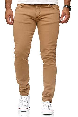 Red Bridge Jeans Slim-Fit Básico Chino de Hombres Denim Elásticos Moda Vaquero Marron