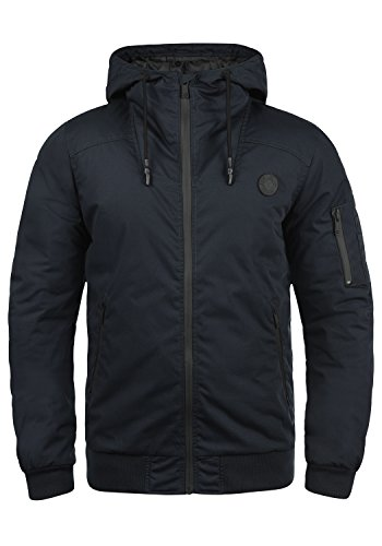 !Solid Tilly Sporty Herren Übergangsjacke Herrenjacke Jacke gefüttert mit Kapuze, Größe:L, Farbe:Insignia Blue (1991)