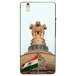 Case Cover Indian Flag Printed Golden Hard Back Cover For InFocus M810