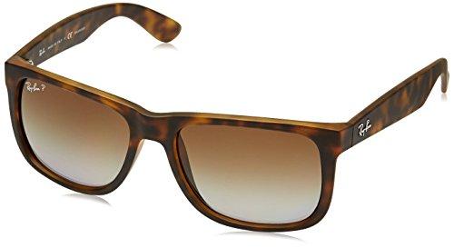 Ray Ban Unisex Sonnenbrille RB4165 Polarisiert, Gr. Large (Herstellergröße: 55), Braun (Gestell: Havana, Gläser: Polarized Braun Verlauf 865/T5)
