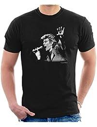 Howard Barlow Official Photography - David Bowie Manchester City Football Club 1987 Men's T-Shirt