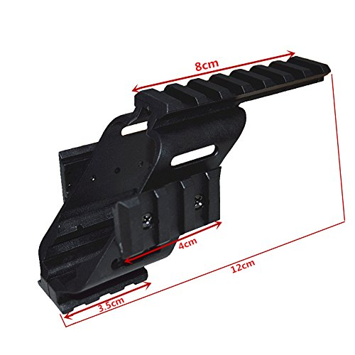 HWZ 2017 Universal Tactical Pistol Scope Sight Polymer Light Weight Mount with 7/8