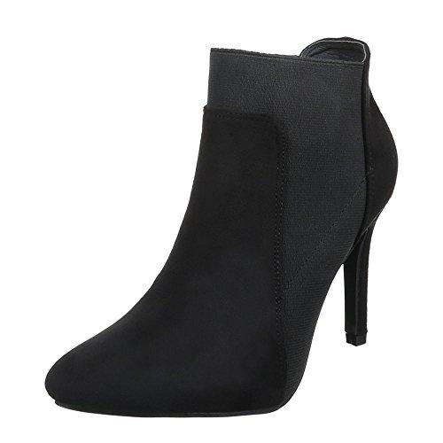 Damen Schuhe High Heels Schlupfstiefel High Heel Stiefeletten Stiefeletten Pfennig-/Stilettoabsatz Schwarz F75