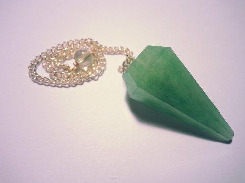 Chabottakra - pendolo con pietra preziosa / gemma tipo cristallo di rocca, ametista, tormalina, ecc., aventurine vert