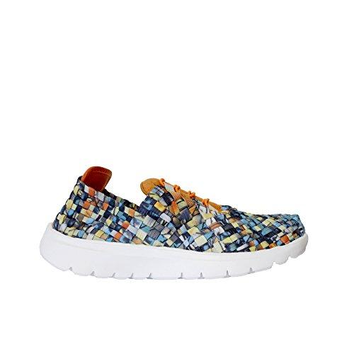 Roberto Maurizi Sneakers in Elastico Intrecciato Stringate con Suola in Gomma Memory Foam TROPICAL ORANGE Taglia 41
