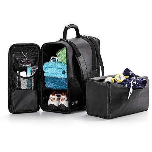ONVAYA Reise- und Sporttasche mit Kulturbeutel und Extra-Tasche   wasserabweisend   ca. 40 x 46 x 19,5 cm   Gewicht 700 g   schwarz   viele Fächer   Schultergurt abnehmbar