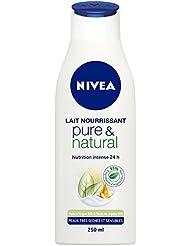 Nivea Lait Nourrissant Pure et Natural Peaux Très Sèches et Sensibles 250 ml - Lot de 2