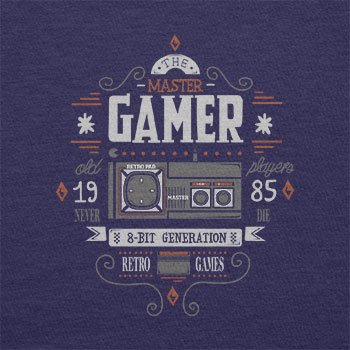 TEXLAB - The Master Gamer - Herren Langarm T-Shirt Navy