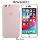 Funda Silicona para iPhone 6 Plus y 6s Plus Silicone Case, Logo Manzana, Textura Suave, Forro...
