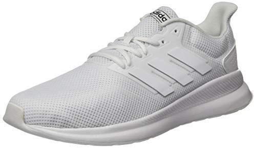Adidas Runfalcon Zapatillas de trail running Hombre, Blanco Ftwbla/Ftwbla/Ftwbla 000, 42 2/3 EU