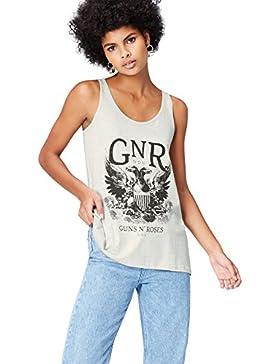 FIND Camiseta Guns N' Roses para Mujer