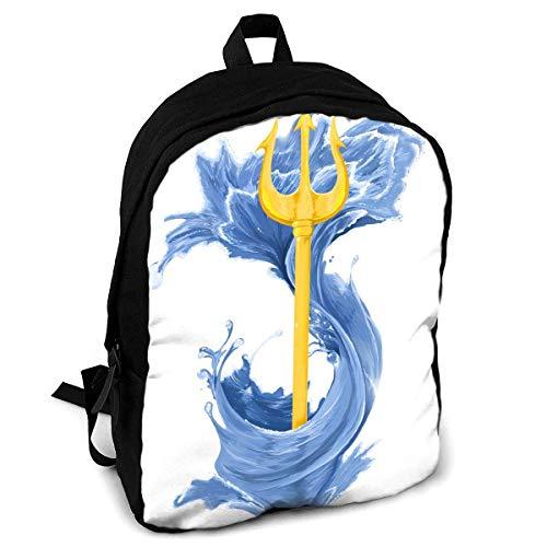 Poseidon griechischer Gott Cross Mode Druck Erwachsene Rucksack Reise Wandern Rucksack