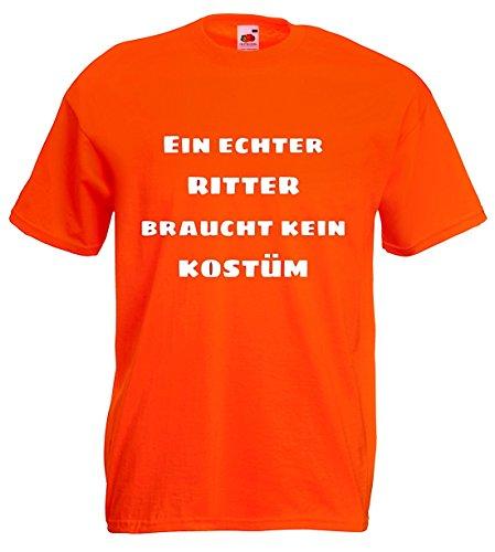 world-of-shirt Herren T-Shirt Ein echter Ritter braucht kein (Fruit Loom Kostüme The Of)