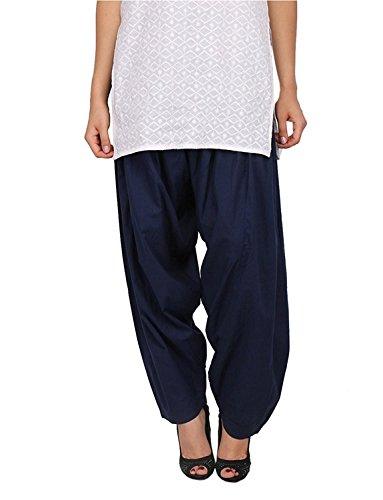 Kalpit Creations Women's Premium Cotton Readymade Salwar (navy blue)