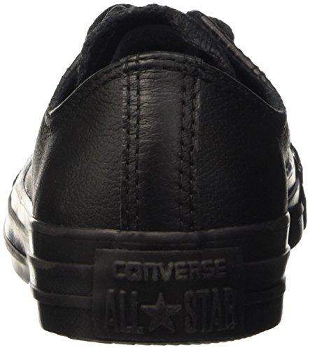 Converse All Star Ox Leather, Scarpe da Ginnastica Unisex – Adulto Nero (Black)