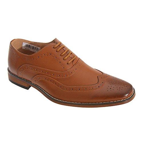 Goor Jungen Brogue Oxford Schuhe Hellbraun