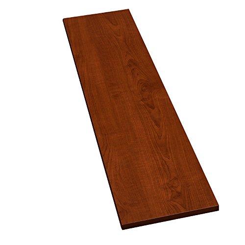 Möbelbauplatte Regalbrett Kirschbaum 1150 x 600 x 16 mm, runde Kante, 4 Seiten umleimt