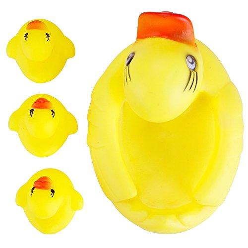 sche Quietschendes Enten Play Wasser Baden Pool Badewanne Spielzeug Set (Gummi Ente Kostüm)
