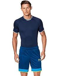 Under Armour Challenger III Knit Short Pantalones Cortos, Hombre, Azul Grafito, Azul eléctrico, Amarillo (581), LG