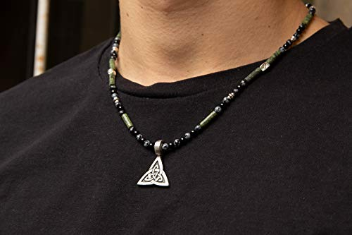 Halskette für Männer Weihnachtgeschenk Kette mit Triquetra Anhänger