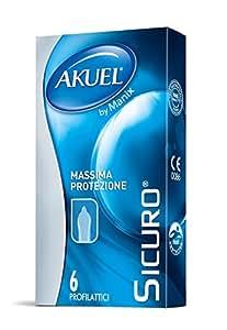 Akuel Sicuro, Preservativi Spessi, 6 Pezzi