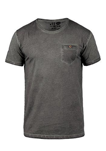 !Solid Teil Herren T-Shirt Kurzarm Shirt mit Rundhalsausschnitt aus 100% Baumwolle, Größe:L, Farbe:Dark Grey (2890)