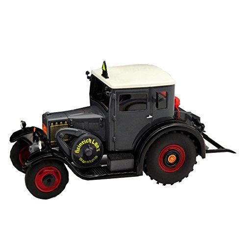 Schuco 450896000 - Traktor Lanz Eilbulldog mit GEschlossener Kabine, Masstab 1:32, Auto Und Verkehrsmodell, Grau