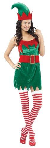 Generique Weihnachtswichtel-Kostüm für Damen M / L