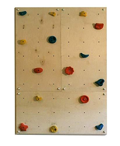 Gartenpirat Kletterwand IW3 für Drinnen 3X Platte 120x60 cm mit 15 Griffen für Indoor-Klettern