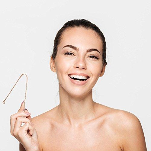 2 STÜCK FUCHSI Zungenreiniger | Natürliche Zungenreinigung gegen Mundgeruch | Äußerst Effektiv | 100% reines antibakterielles KUPFER | Deutsches Markenprodukt | Hausmittel gegen Mundgeruch / schlechten Atem | Zungenschaber Mund-reiniger Zungenspachtel tongue cleaner | Zungenbürste - 4