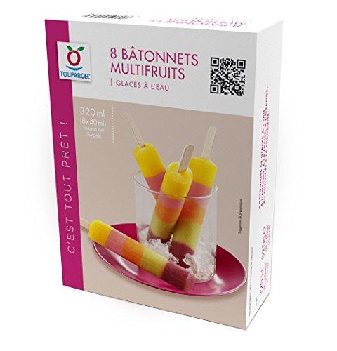 TOUPARGEL - Glaces à l'eau en bâtonnets saveurs multifruits - 8 x 40 g - Surgelé