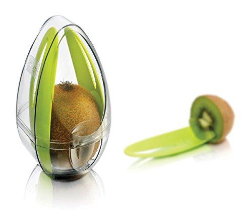 Tomorrow's Kitchen 2860460 Boîte de Garde kiwis en blanc/vert en Plastique Blanc/Vert 20 x 20 x 10 cm