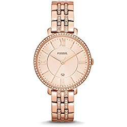Fossil Jacqueline Analog Pink Dial Women's Watch -ES3546