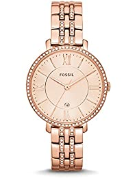 Fossil Jacqueline Analog Rose Gold Dial Women's Watch - ES3546
