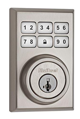 Cerradura de seguridad electrónica con código y llave inteligente Kwikset 99090-022