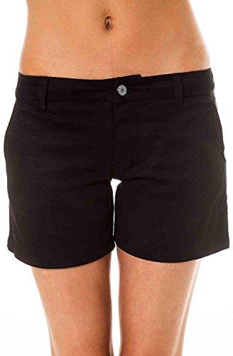 Dickies Girl - Stretch Bull 5''In 2 Welt Pocket Short, 11, Black -