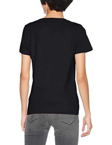 Lee Damen T-Shirt Glitter Logo T Schwarz (Black Hc01)