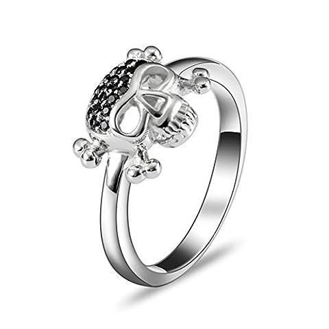 szatkj Damen stapelbar Kristall Hochzeit Ring