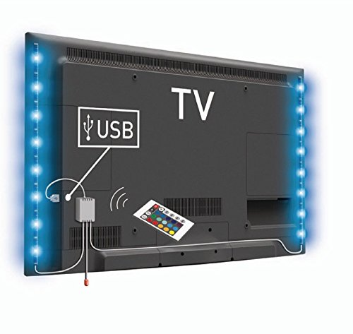 2HY Lichterkette LED USB 50cm mehrfarbig + Fernbedienung für TV Tele Büro - 2 Gb-tv
