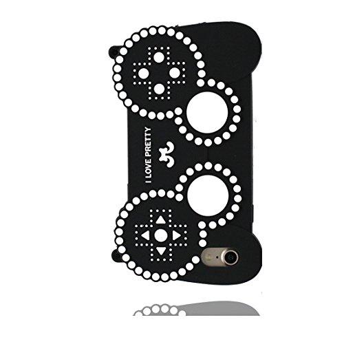 iPhone 6 Plus Copertura,iPhone 6S Plus Custodia,3D Cartoon Maniglia di gioco Pelle morbida in gomma siliconica per la copertura posteriore della copertina Case cover per iPhone 6 Plus/ 6S Plus 5.5inch nero