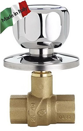 Válvula integrado cromado FF 1/2con giratorio Made in Italy