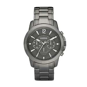 Fossil Herren-Armbanduhr XL Grant Chronograph Quarz Edelstahl beschichtet FS4584