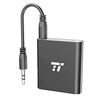 TaoTronics Bluetooth Transmitter 20m Bluetooth Adapter 4.1, aptX LL (aptX Low Latency), Duale 3,5mm- & RCA-Verbindung