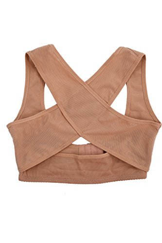 TOOGOO(R) Lady Chest Breast Support Belt Band Posture Corrector Brace Body Sculpting Strap Back Shoulder Vest X Type Pattern