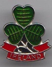 Drapeau Irlande Badge àépingle Trèfle irlandais